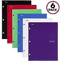 Five Star 4 Pocket Folders, Assorted Color, 6 Pack