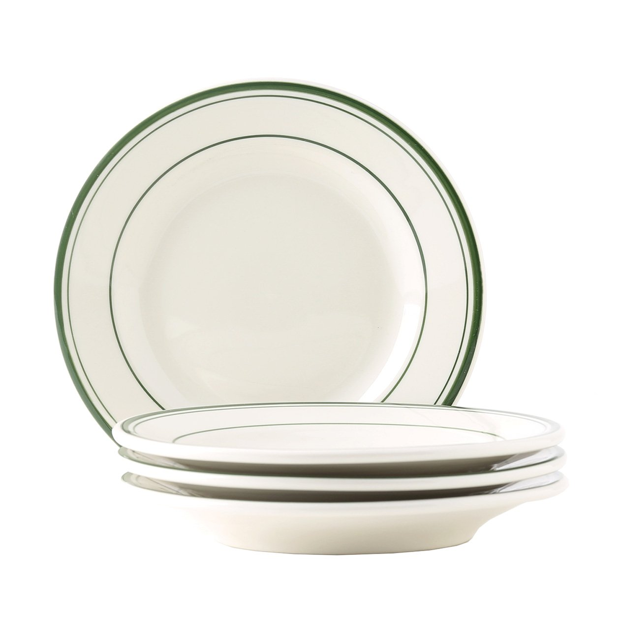 Stripe Tuxton Home THTGB007-6B Green Bay Salad Plate 7-Inch