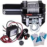 Yescom 3000 lb ATV Electric Recovery Winch Kit UTV for Truck Trailer Car with 12v Roller Fairlead