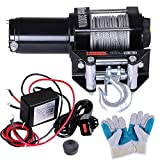 Yescom 3000 lb ATV Electric Recovery Winch Kit UTV for Truck Trailer Car with 12v Roller Fairlead