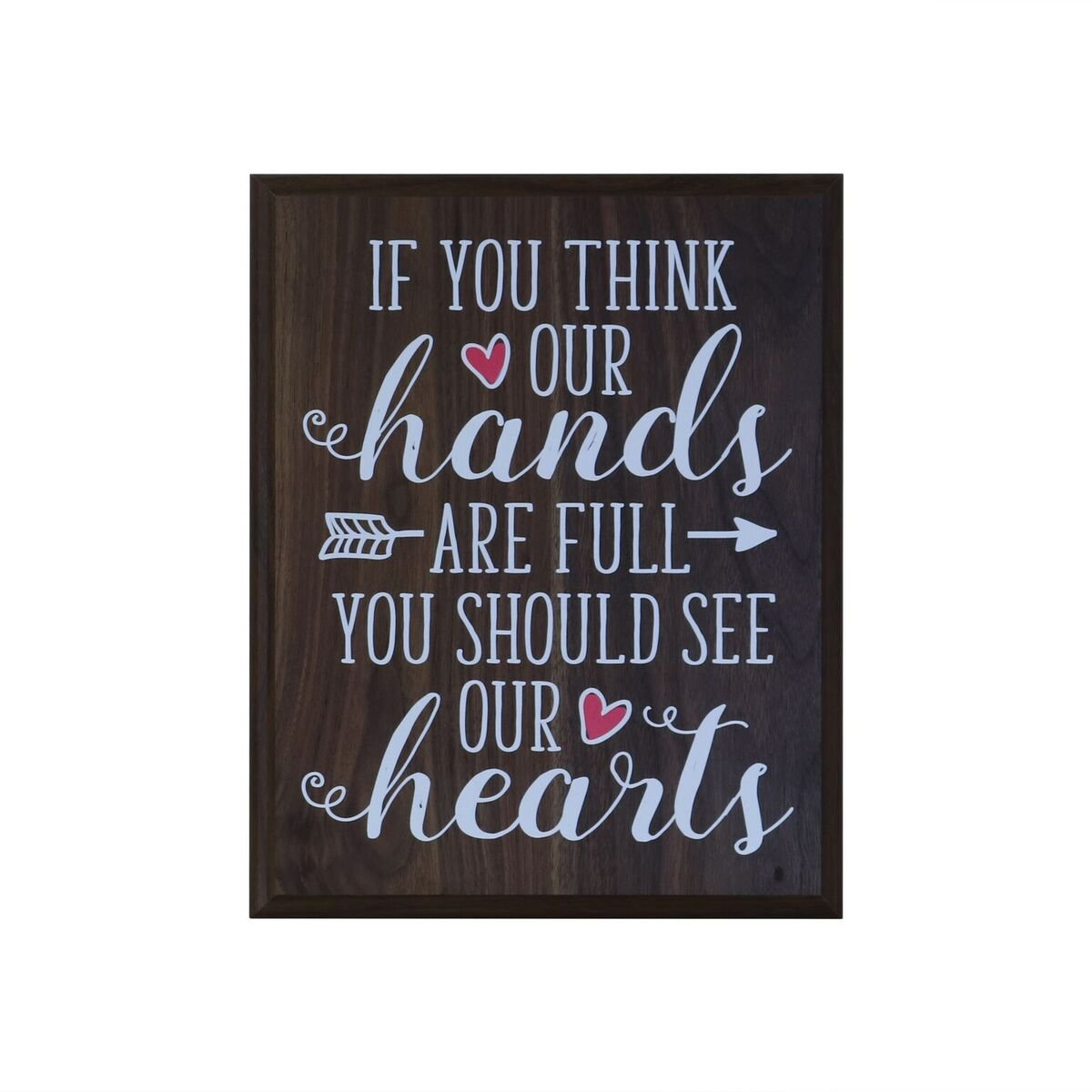 Full Hands And Hearts Gifts For Mom Husband Wife Parents Best Friend Christian Gift Ideas Birthday 12 Inches Wide X 15 High Wall