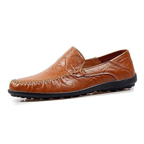 Hongjun-shoes, Hombre Talón Plano Slip Slip On Slouch Vamp Oficina Ocio Zapatos Casuales