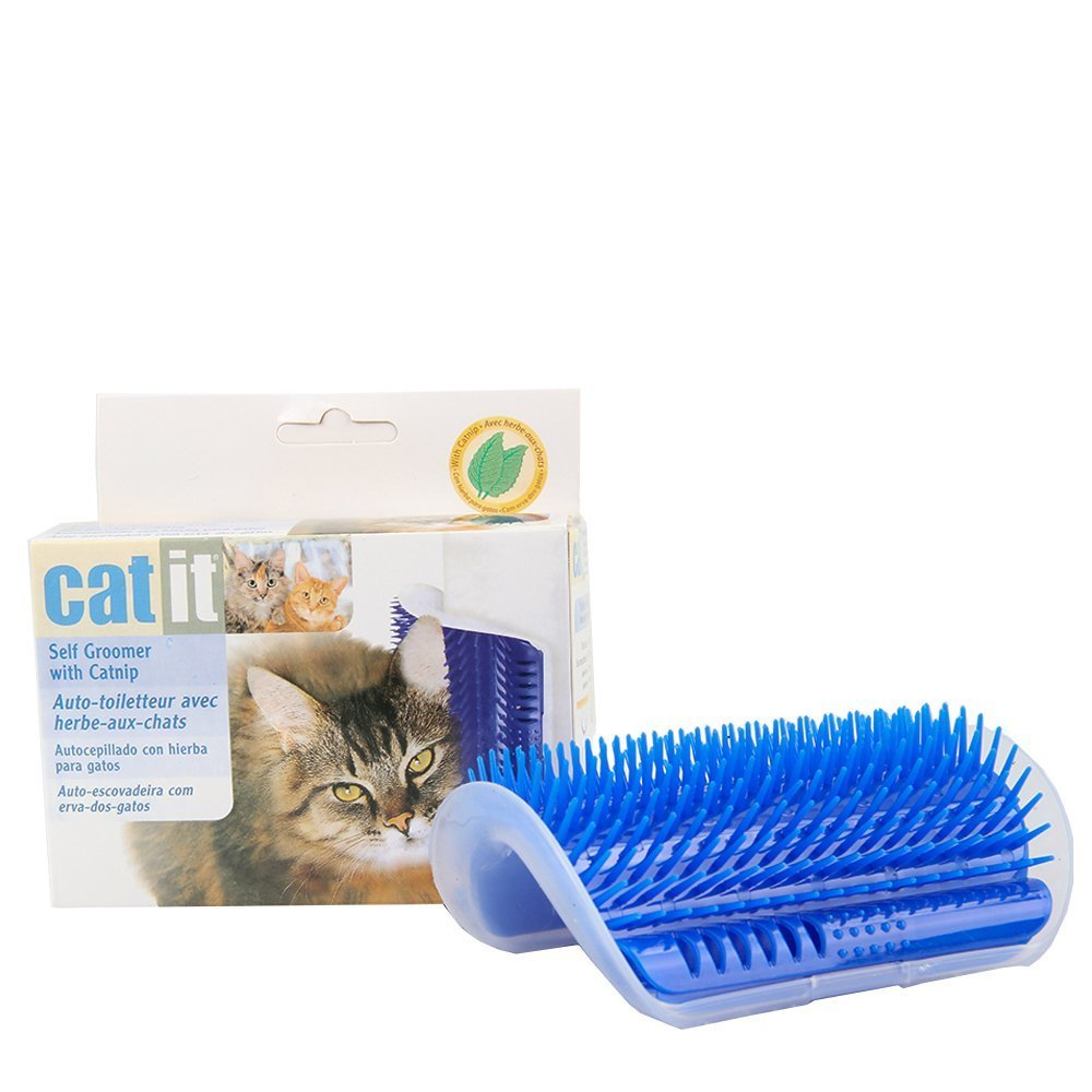 Amazon.com: SWONVI Cat Catnip Toy Cat Corner Groomer Massage Brush for Cats with Long & Short Fur, Hair Removal Mitts & Rollers (Black): Health & Personal ...