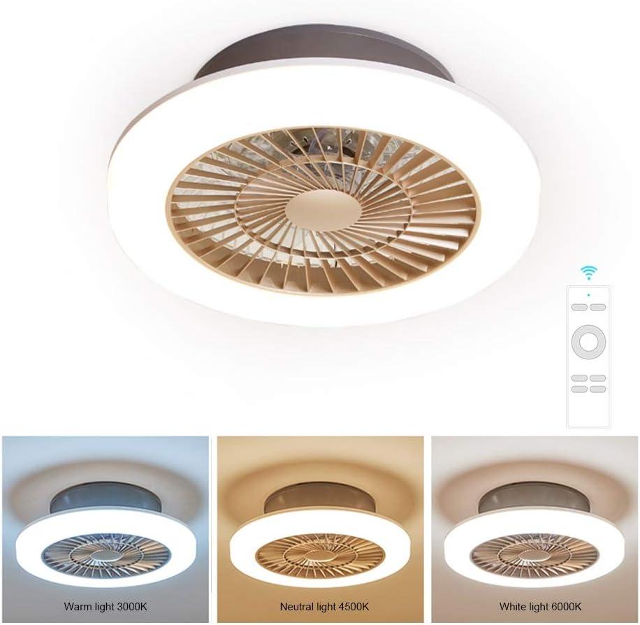 Ventilator mit Windleitfunktion f/ür Schlafzimmer Wohnzimmer Ventilator mit 36W LED Licht Einstellbare der Windgeschwindigkeit und 3 Lichtfarben Deckenventilator mit Beleuchtung und Fernbedienung