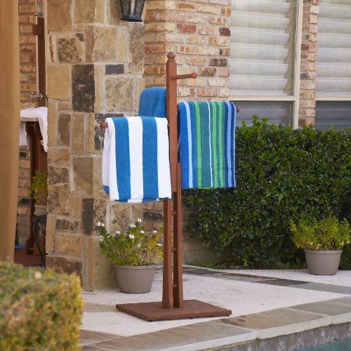 "Mission Towel Rack 54"" - 4 Rungs for Hanging - Dark Brown Oiled Finish"