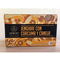 Horley, Horley Té Jengibre con Cúrcuma y Canela, Con 20 sobres de 1.5 gr., 69 gramos