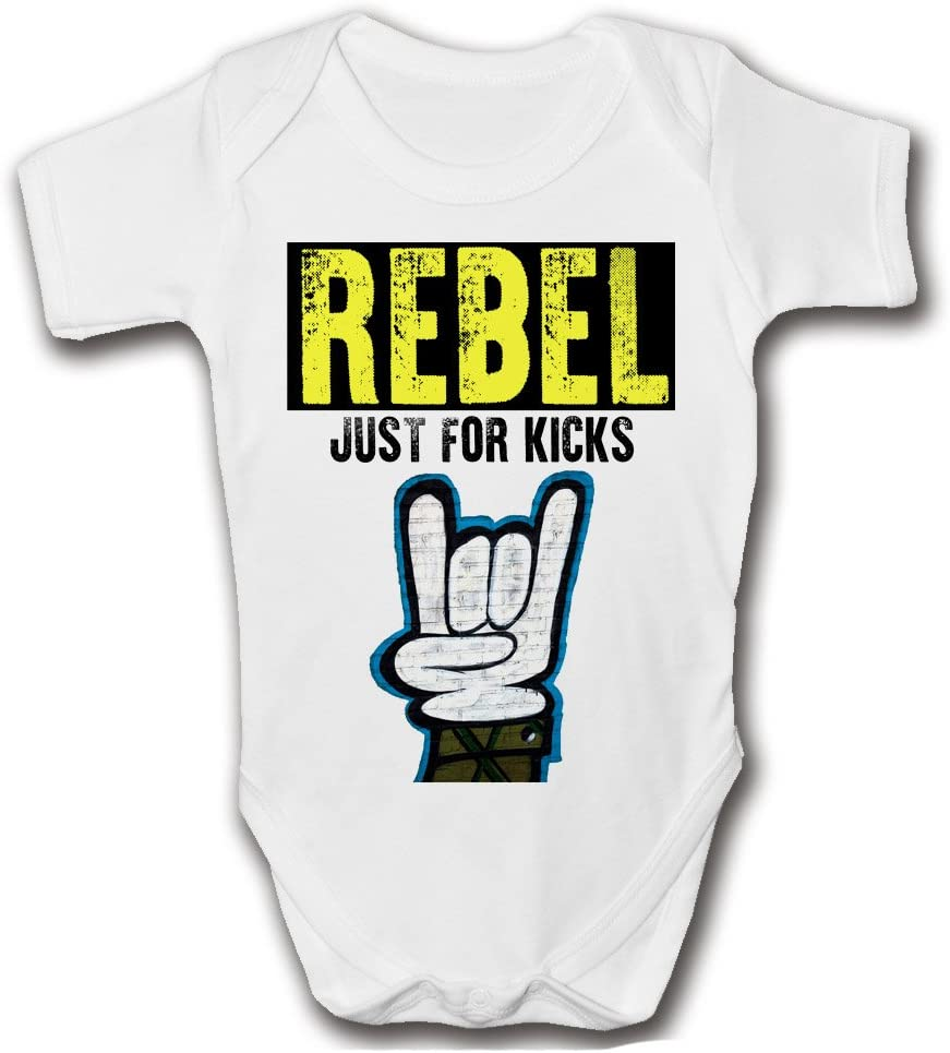 Rebel fantaisie b/éb/é Grenouill/ère blanc blanc 0-3 Rebel juste pour Kicks Body b/éb/é Musique