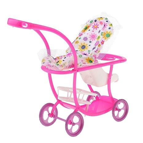 F Fityle Juegos Miniatura Carrito de Muñeca Bebé Neborn Muebles Modelo de Casa de Muñecas Escala