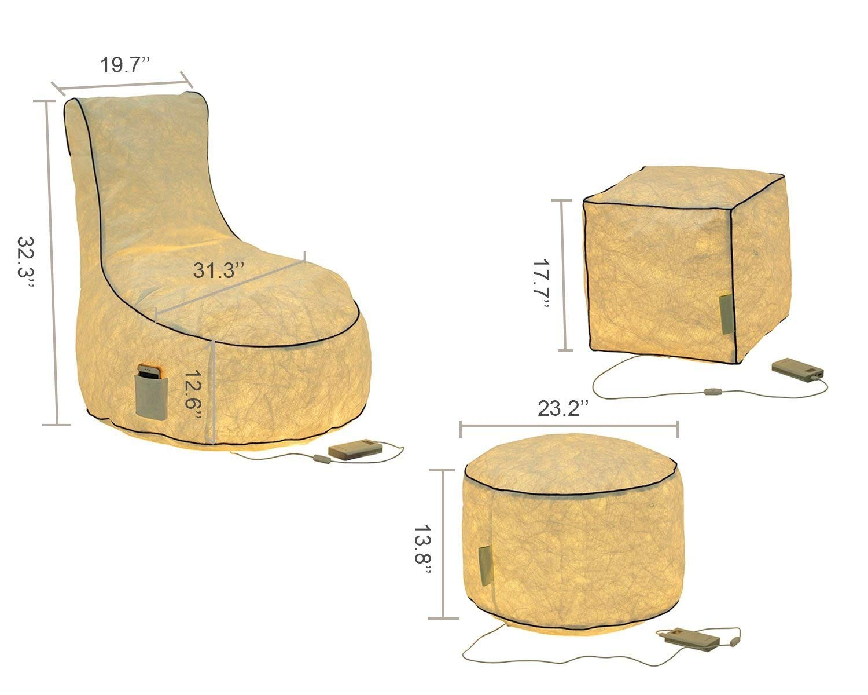 LazyBag inflable tumbona, portátil silla para Haloween, Chistmas decoración con iluminación efecto Chair: Amazon.es: Hogar