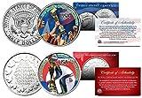 Merck Mint TEAM USA WOMENS 2015 SOCCER WORLD CUP CHAMPIONS 2'' JFK HALF DOLLAR & ROYAL CANADIAN MINT MEDALLION!
