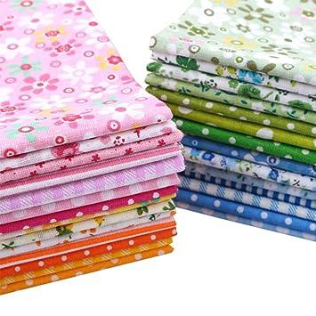 28 paños cuadrados de tela de algodón de 25 x 25 cm para costura y retazos, para manualidades, álbumes de recortes