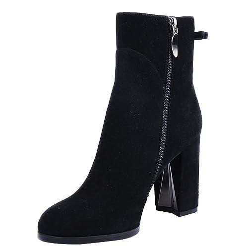 6e2fa5185f2 ZAPROMA Women s Zaccuse Genuine Leather High Heel Winter Boots ...