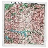 Kyпить Great Smoky Mountains Topographical Map Bandana на Amazon.com