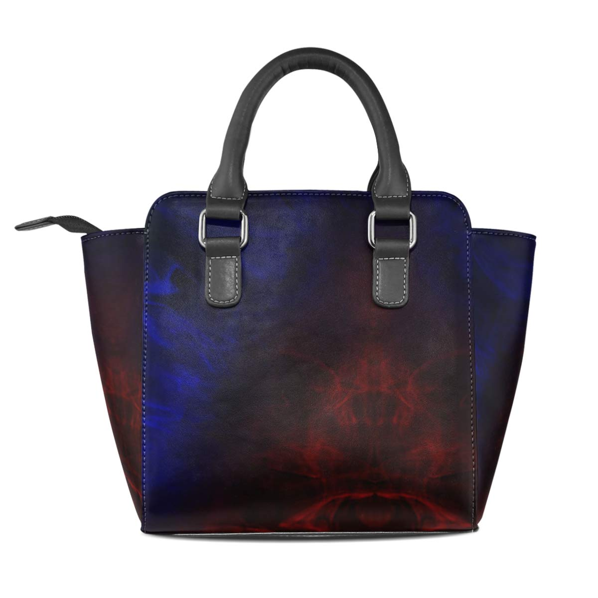 Blue Red Marble Womens Classy Satchel Handbag Handbag With shoulder Strap Crossbody Bag