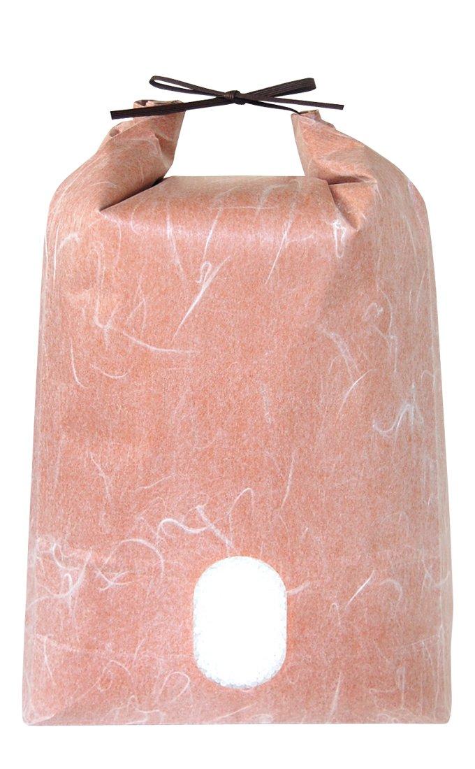 おぐら 1〜1.5kg用紐付米袋 20枚セット 窓付 KH-0890 角底 マルタカ 無地 雲龍和紙