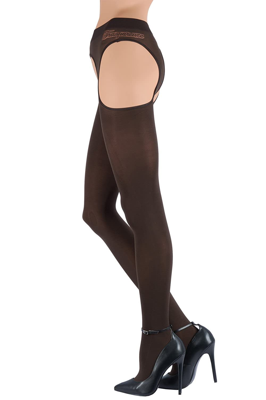 Trasparenze Strip-Panty CORTINA, Strapsstrumpfhose, blickdicht, nero, schwarz