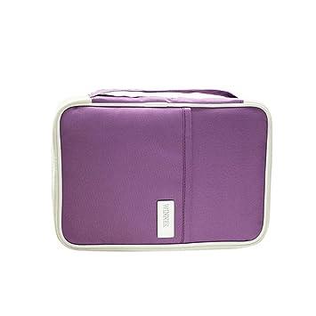 Pawaca - Cartera de viaje con compartimentos para pasaporte familiar, portatarjetas para documento de identidad