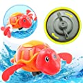 Cute Plastic Bath Shower Toy Swimming Adorable babies Turtle Floating Toys For Kids 2 Pack