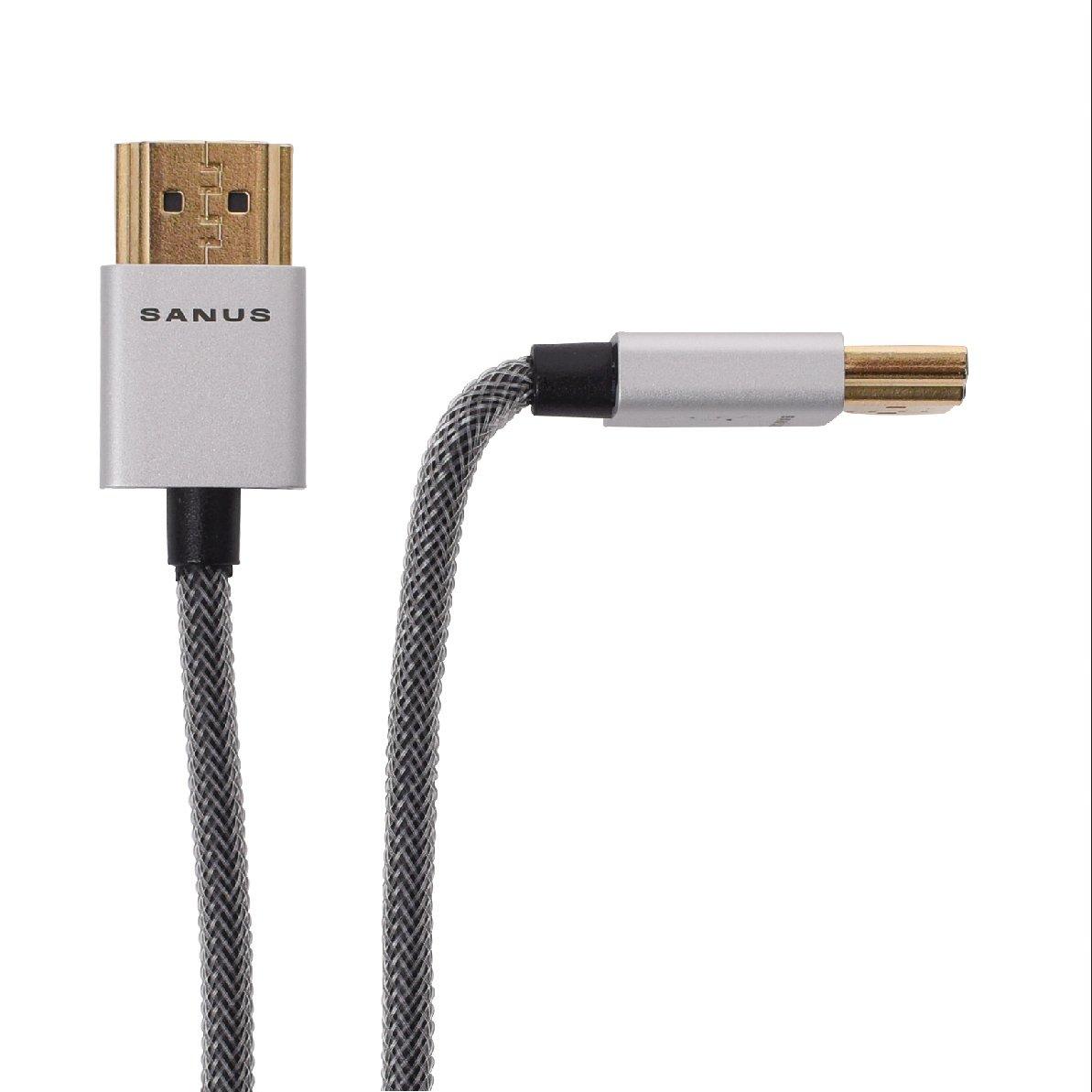 Sanus Super Slim 8' HDMI cable - 8 Feet - 18 Gbps High-Speed Supports Full 1080P, 4K, UltraHD, 3D, Ethernet, and Audio Return Channel - SOA-SH8 FBA_SOA-SH8