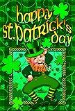 Toland - Happy Leprechaun - Decorative Double Sided St Patrick Lucky Clover USA-Produced Garden Flag