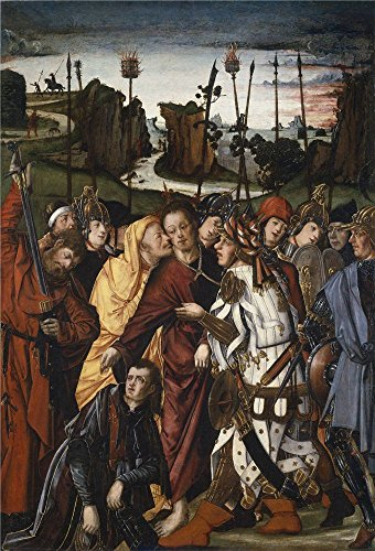 High Quality Polyster Canvas ,the High Resolution Art Decorative Canvas Prints Of Oil Painting 'Osona Francisco De Osona Rodrigo De The Taking Of Christ ', 16 X 24 Inch / 41 X 60 Cm Is Best For Garage Artwork And Home Gallery Art And Gifts