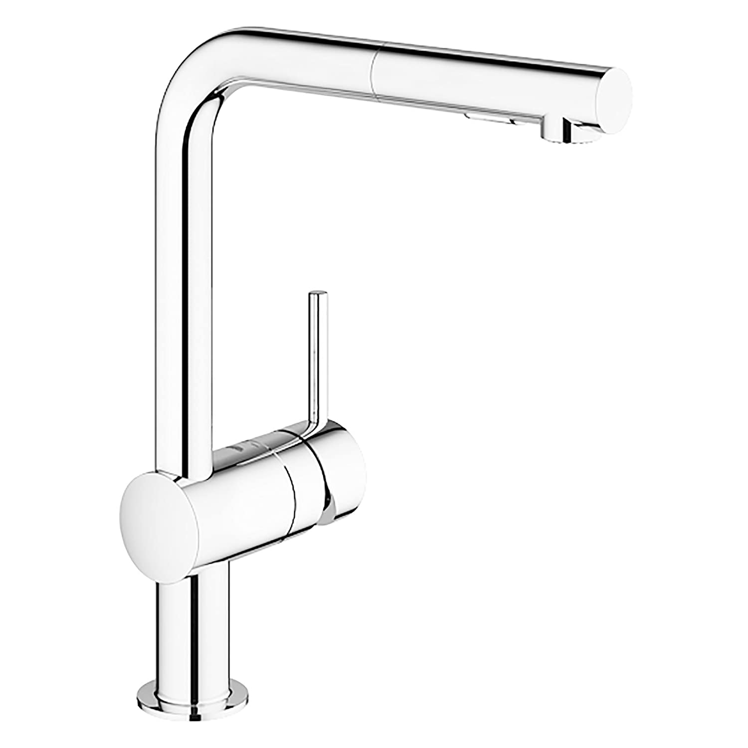 GROHE 30300000 Minta Pull-Out Kitchen Faucet, Polished Chrome ...