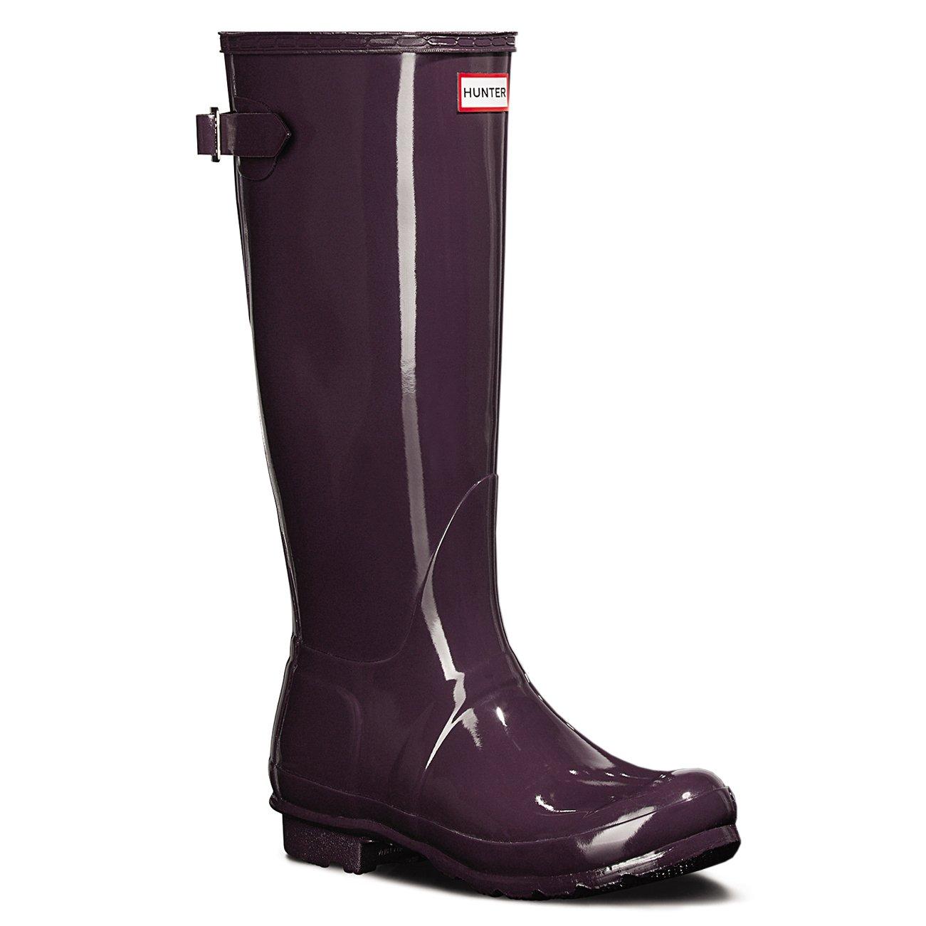 Womens Hunter Original Adjustable Back Gloss Wellington Winter Rain Boot B01JOTWB68 5 B(M) US|Purple Urchin