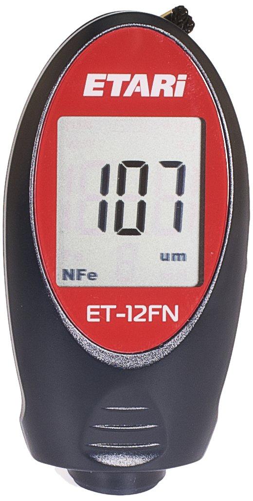 ET 12FN Épaissimètre de couches, Appareil de mesure d'épaisseur de couche, Mesureur d'épaisseur de peinture, Jauge d'épaisseur de revêtement- pour les mesures sur du fer/acier et les m