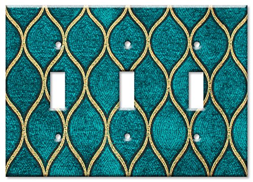 Art Plates - Triple Gang Toggle OVERSIZE Switch/OVER SIZE Wall Plate - Jade