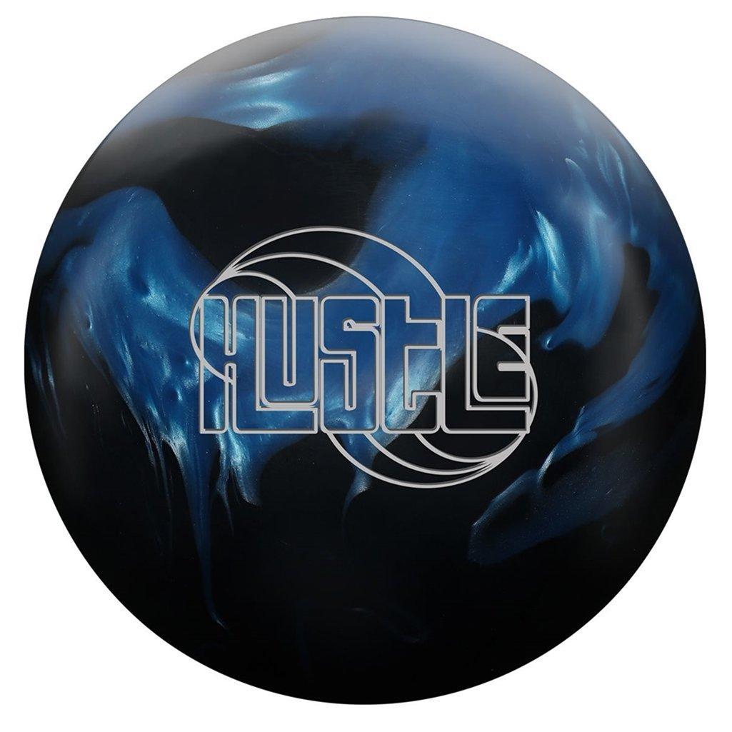 RotoグリップHustle HYB pre-drilled Bowling ball-ブラック/ブルー B07B6DBBK9  14lbs