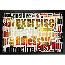 ProFrames Exercise and Fitness Motivational Art Print Framed Poster 18x12