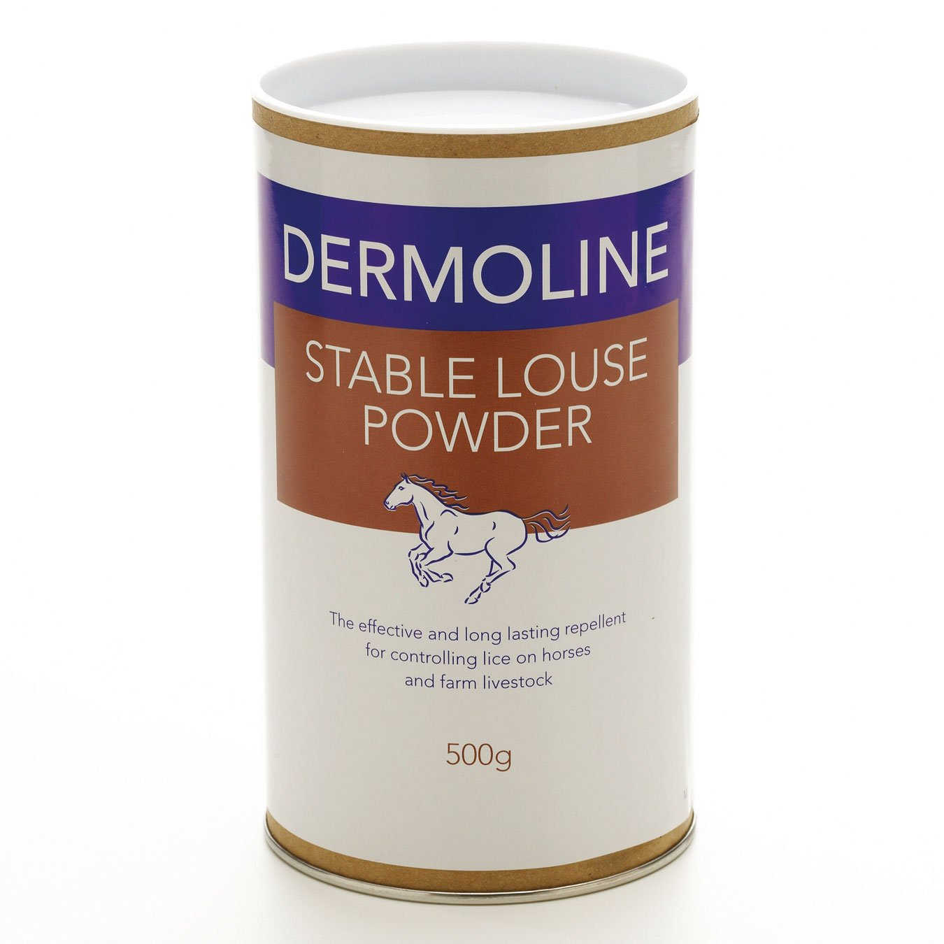 Dermoline Stable Louse Powder 500g- repellent against lice and other external parasites by William Hunter Equestrian (Image #1)