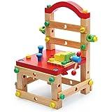 鲁班椅子多功能拆装积木玩具 儿童益智拼装木制螺母丝组装拆装椅百变螺母玩具 (鲁班椅)