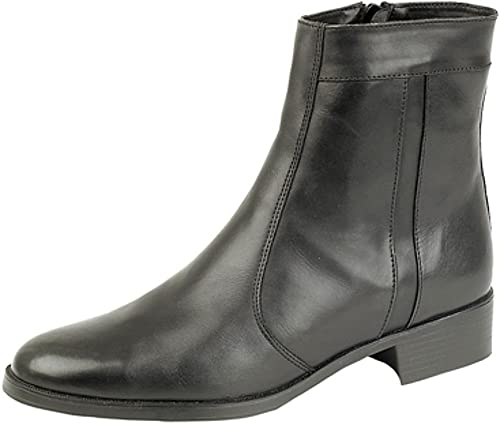 Mens Softie Leather side zip Ankle