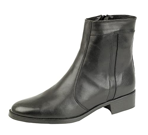 ba7a012227 Mens Softie Leather side zip Ankle Boots: Amazon.co.uk: Shoes & Bags