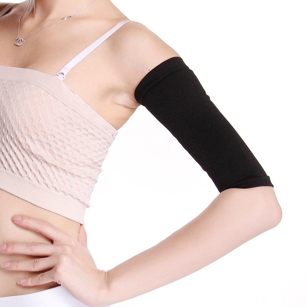 KAIMENG Arm Ehemalige Elastische Oberarm Former Ä rmel fü r Sport Fitness Anti Cellulite (Schwarz)