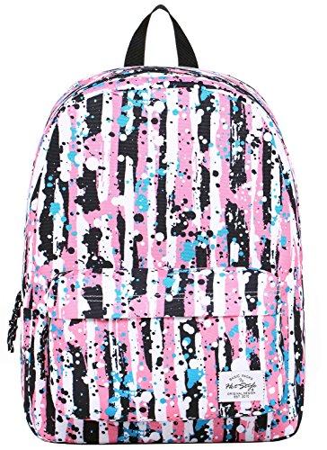 SIMPLAY Mochila Escolar Clásico | 44x30x12,5cm | Estampada de moda | Flor D204G, Salpicaduras de pinturas