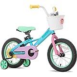 "JOYSTAR 12"" 14"" 16"" Kids Bike for 2-7 Years Girls 33-53 inch Tall, Girls Bicycle with Training Wheels & Coaster Brake, 85% As"