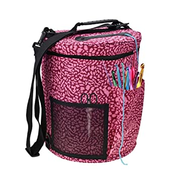 fa697e57bd40 Amazon.com: Knitting Yarn Storage Bag Big Capacity Women's Crochet ...
