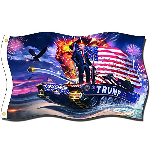 Home King Trump Flags 3X5FT 100% Polyester,Canvas Head with