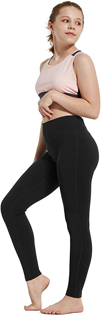 Amazon.com: BALEAF Youth Girl's Athletic Dance Leggings Compression Pants  Running Active Yoga Tights with Back Pocket: Clothing