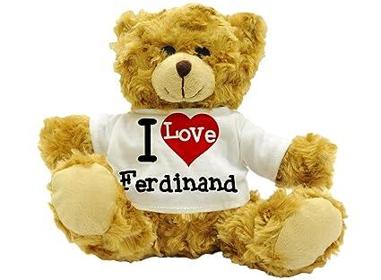 I Love Ferdinand – Cute nombre oso de peluche regalo (22 cm de alto aprox
