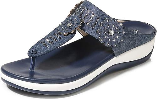 Sandalias Zuecos Zapatos De Cuero Para Mujer Chanclas De Mujer Estilo Bohemia Verano Casuales De Playa Zapatos Sandalias Y Palas Sandalias De Dedo