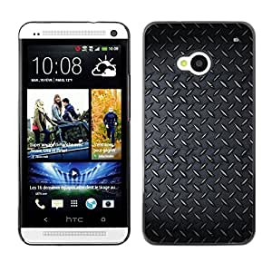 LECELL -- Funda protectora / Cubierta / Piel For HTC One M7 -- Diamont Plated Steel Grunge Pattern --