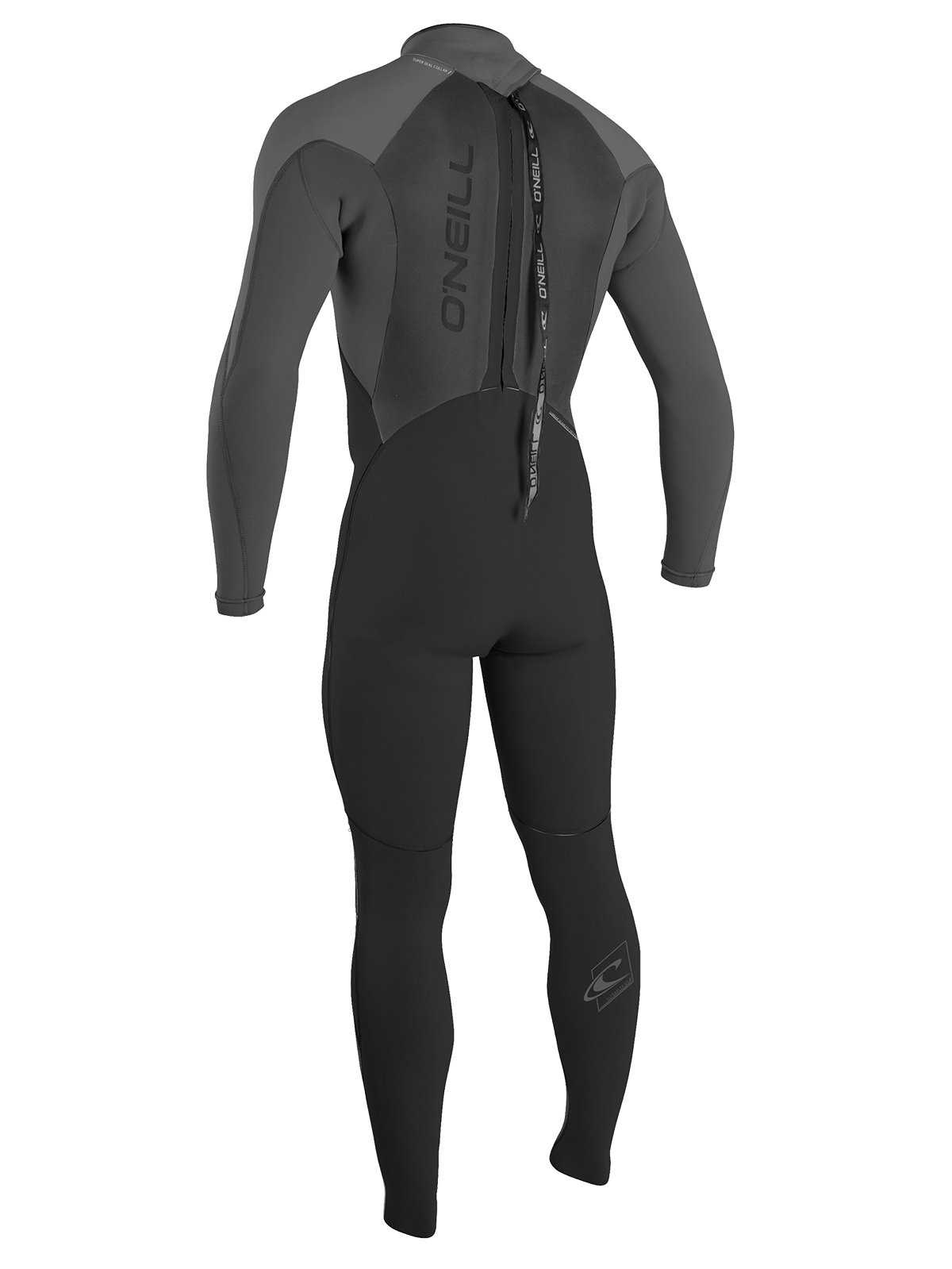 O'Neill Men's Epic 4/3mm Back Zip Full Wetsuit, Black/Oil/Smoke, Small by O'Neill Wetsuits (Image #3)