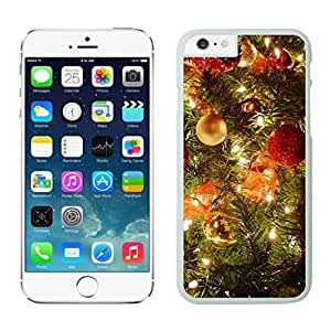 Iphone 6 Cases,Customized Design Christmas Tree Decoration Jingling Bell White Apple Iphone Cases For Iphone 6 4.7 Inch