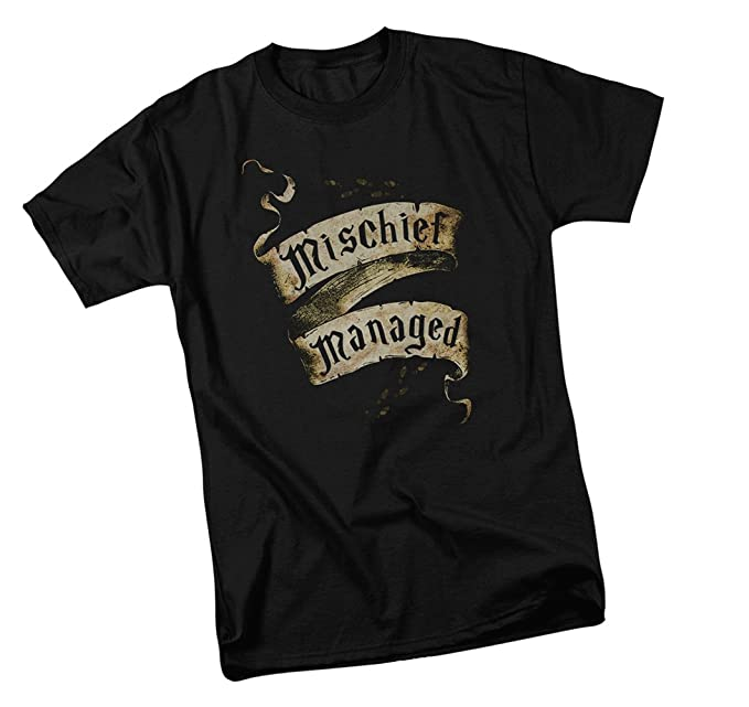 12723126d Amazon.com: Warner Bros Mischief Managed - Harry Potter Adult T-Shirt:  Clothing