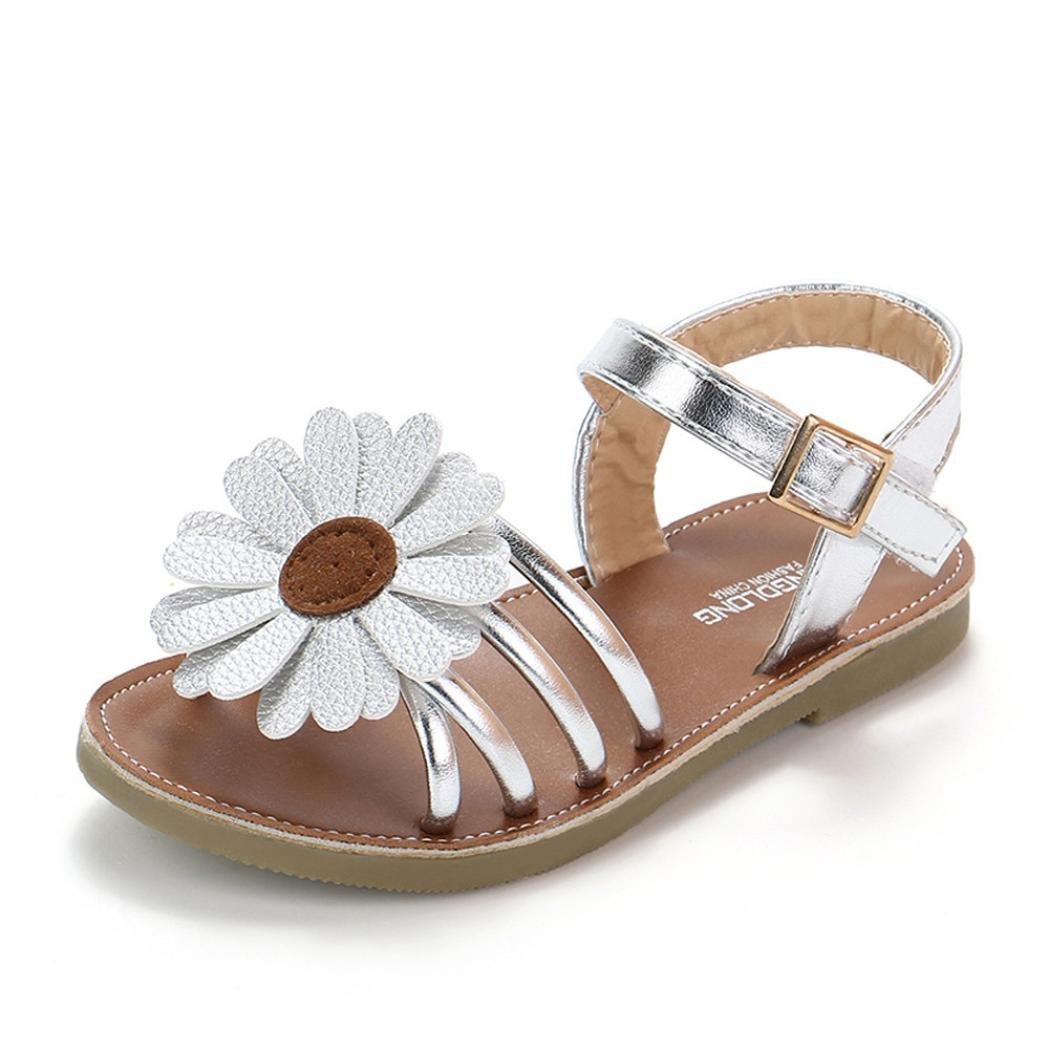 OHQ Filles Enfants Fleur D'éTé Sandales Rome Chaussures Princesse Rose Toddlerkids BéBé...