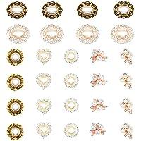 HOSTK 28pc DIY Rhinestone Botones de perlas Broche