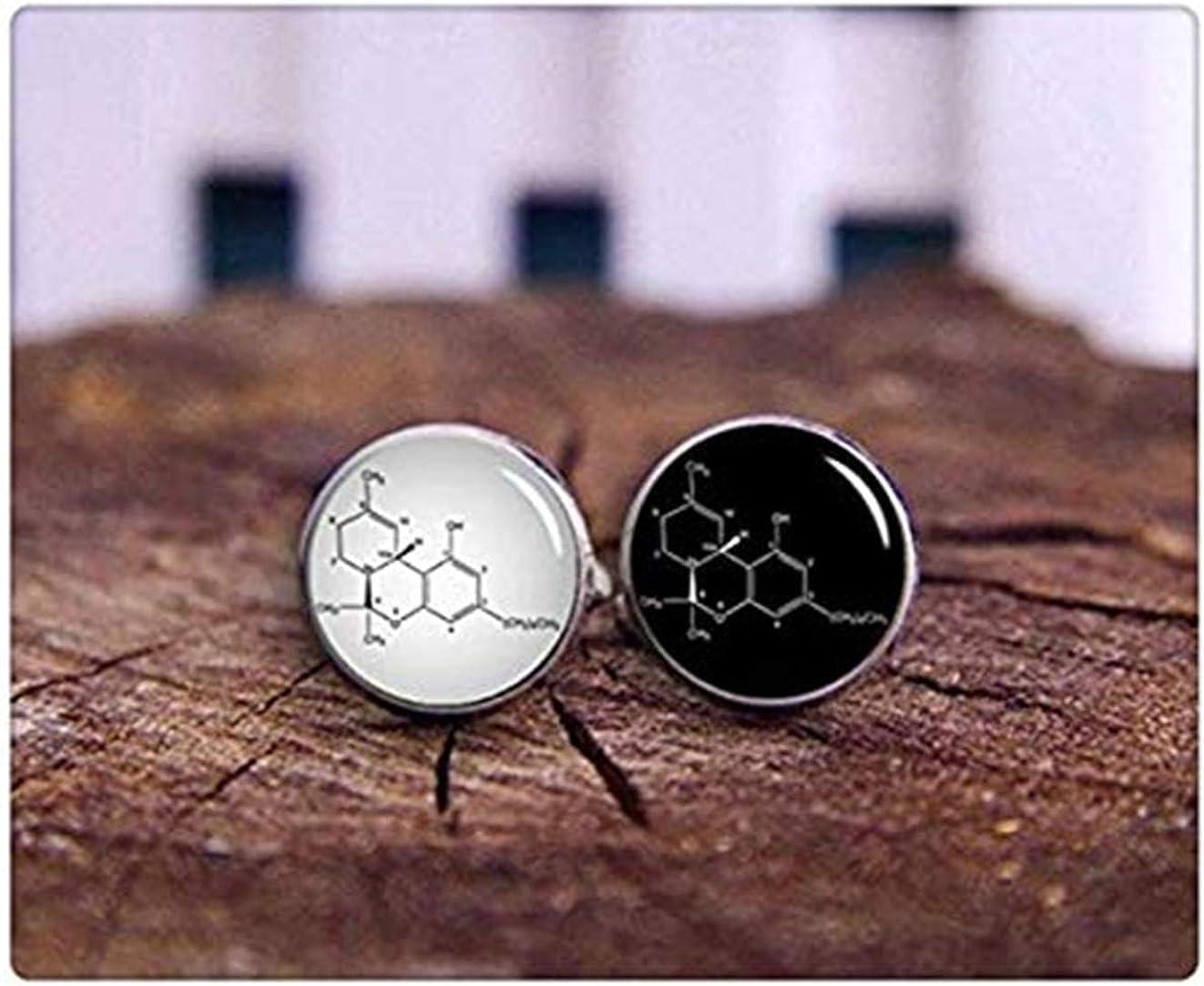 Tetrahydrocannabinol Molecular Formula Marijuana Cufflinks Death Devil Art Picture Cuff Links,Custom Chemical Formula Cufflinks Custom Personalized Cufflinks,Gift of Love THC Cufflinks